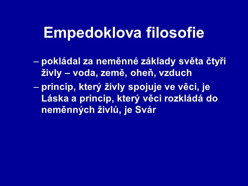 Empedoklova filosofie
