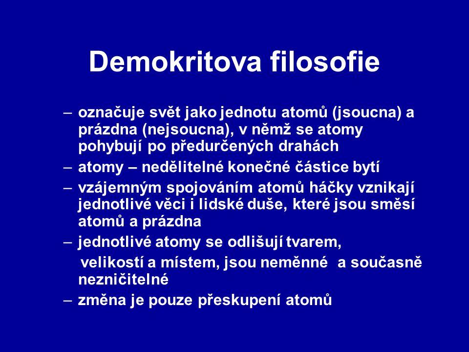 Demokritova filosofie