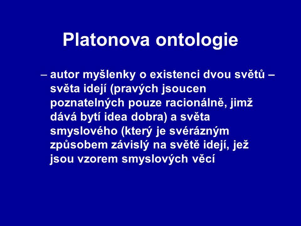 Platonova ontologie