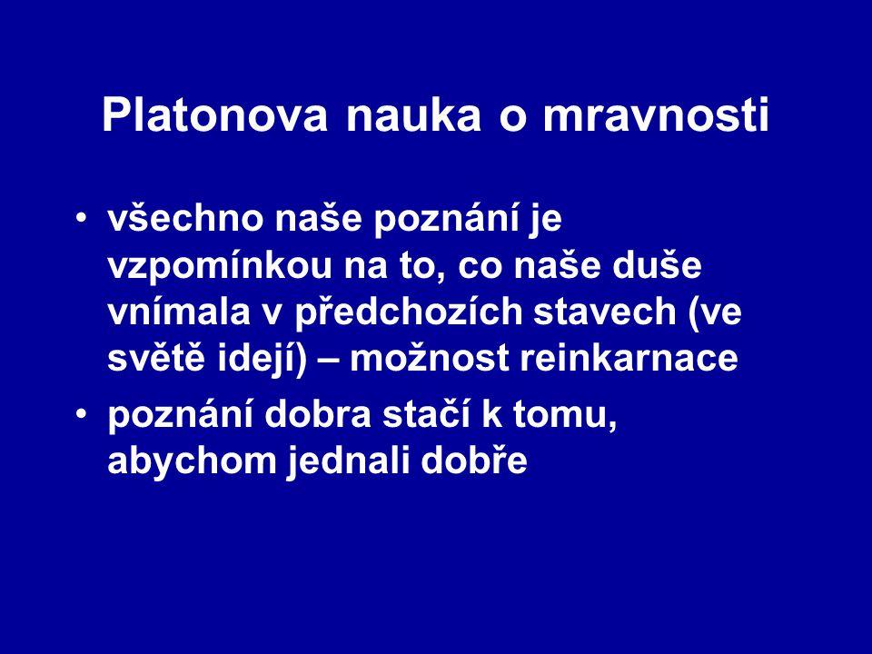 Platonova nauka o mravnosti