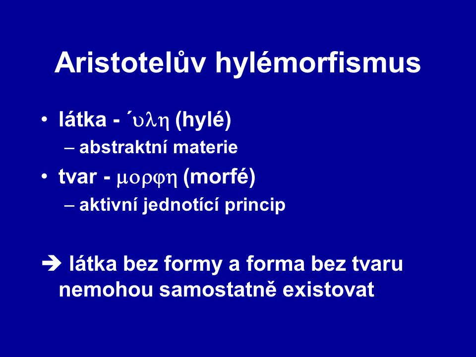 Aristotelův hylémorfismus
