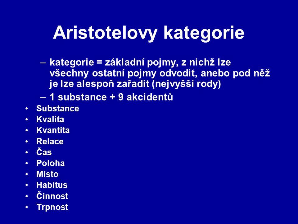Aristotelovy kategorie