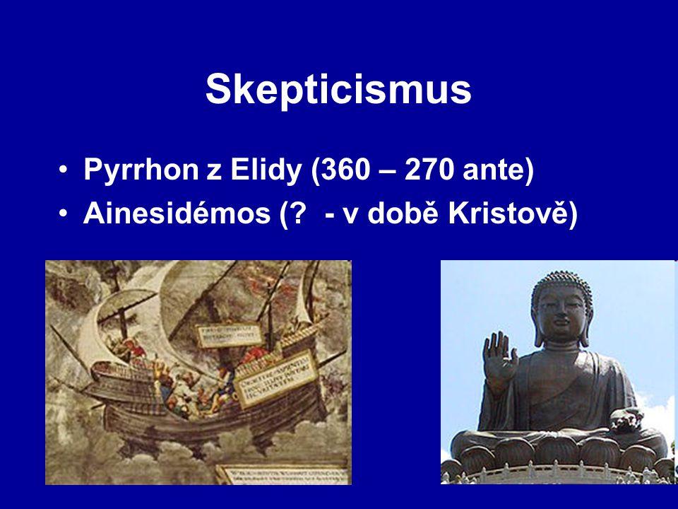 Skepticismus Pyrrhon z Elidy (360 – 270 ante)