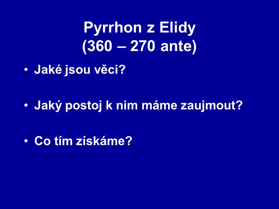 Pyrrhon z Elidy (360 – 270 ante)