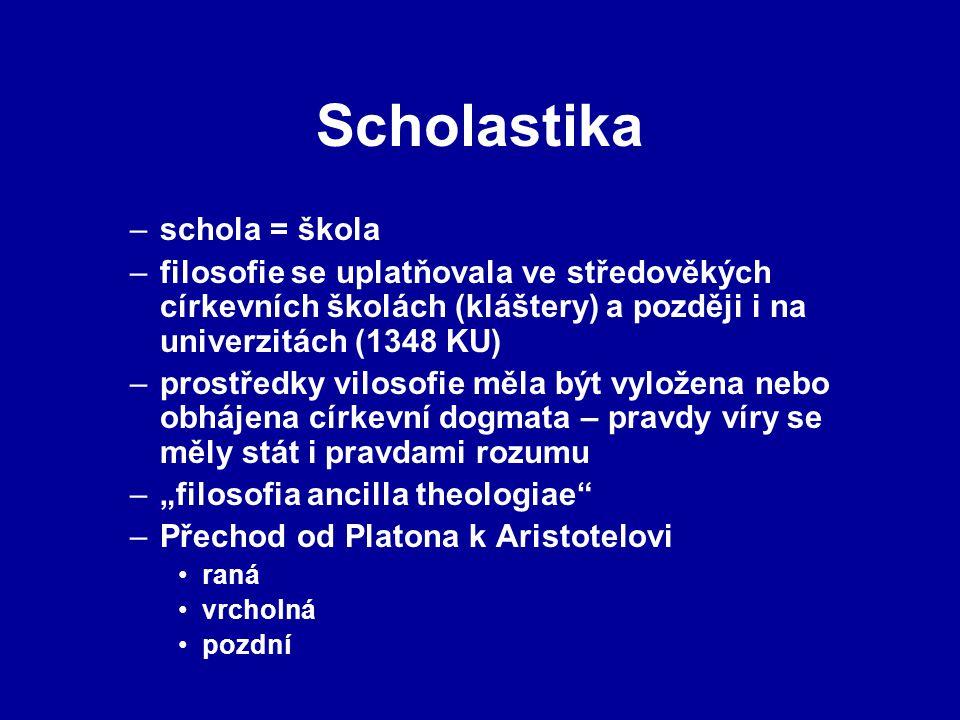Scholastika schola = škola