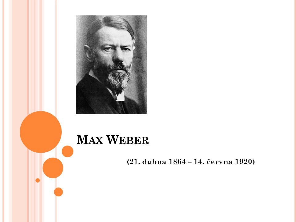 Max Weber (21. dubna 1864 – 14. června 1920)