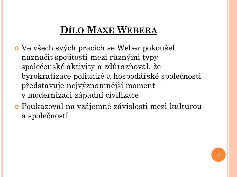 Dílo Maxe Webera