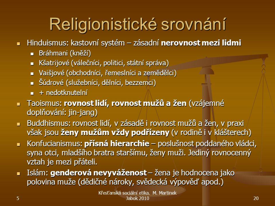 Religionistické srovnání