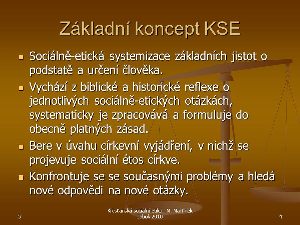 Křesťanská sociální etika. M. Martinek Jabok 2010