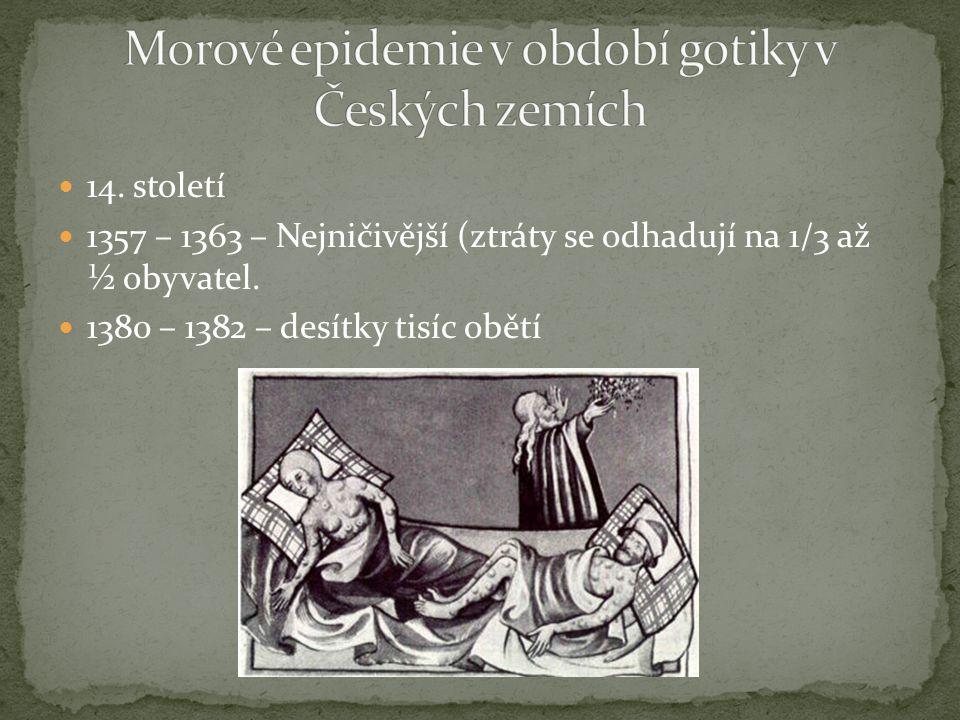 Morové epidemie v období gotiky v Českých zemích