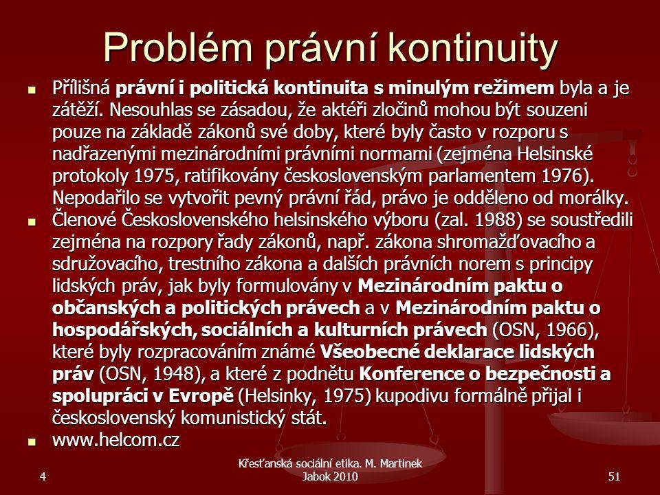 Problém právní kontinuity