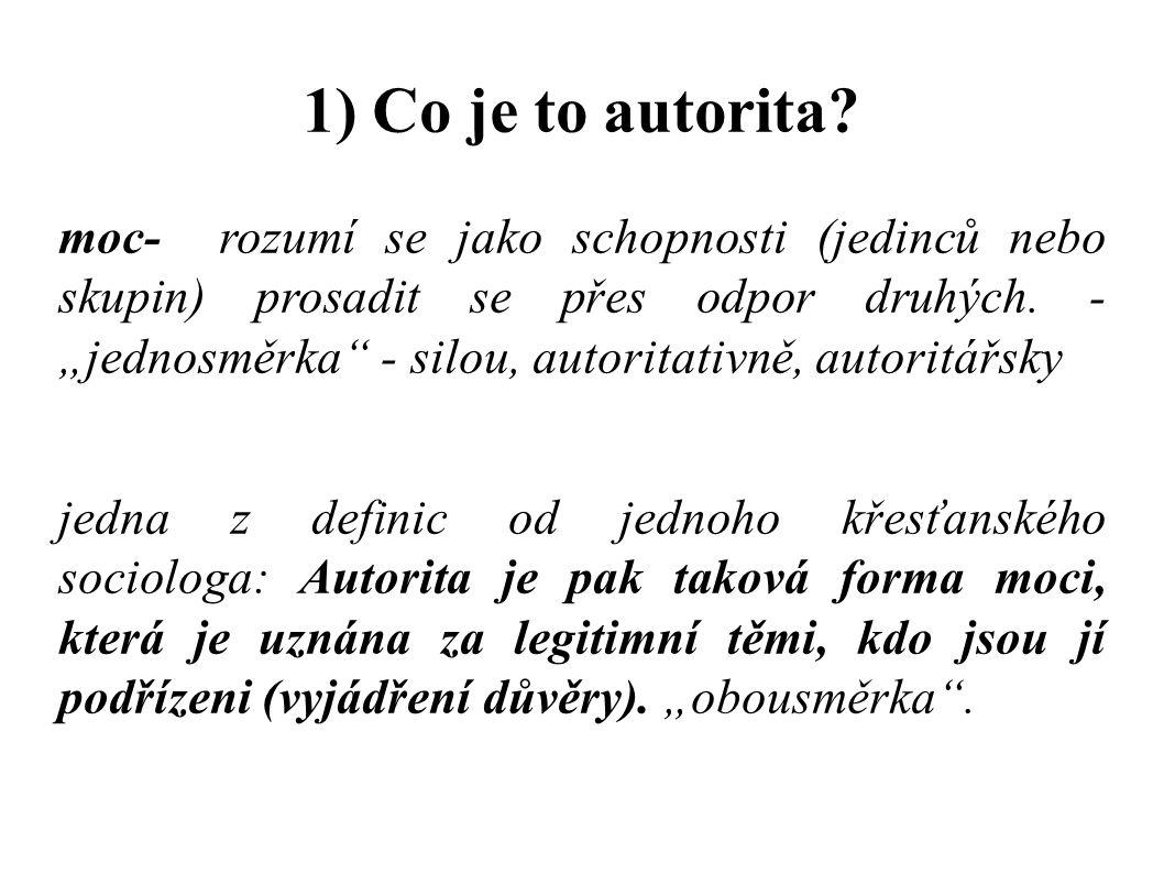 1) Co je to autorita