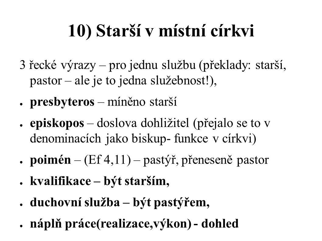 10) Starší v místní církvi