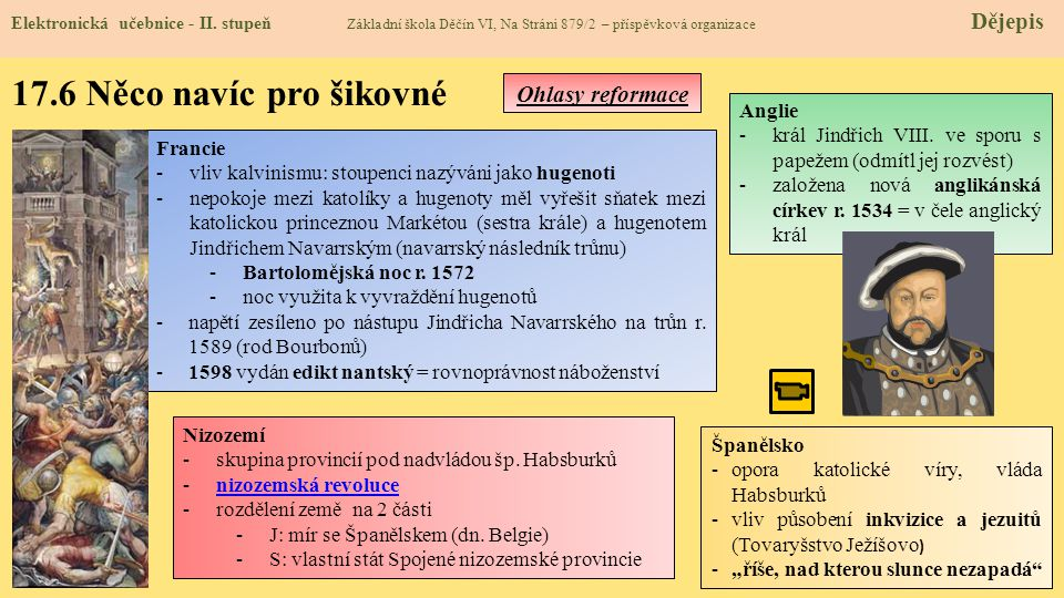 17.6 Něco navíc pro šikovné Ohlasy reformace Anglie