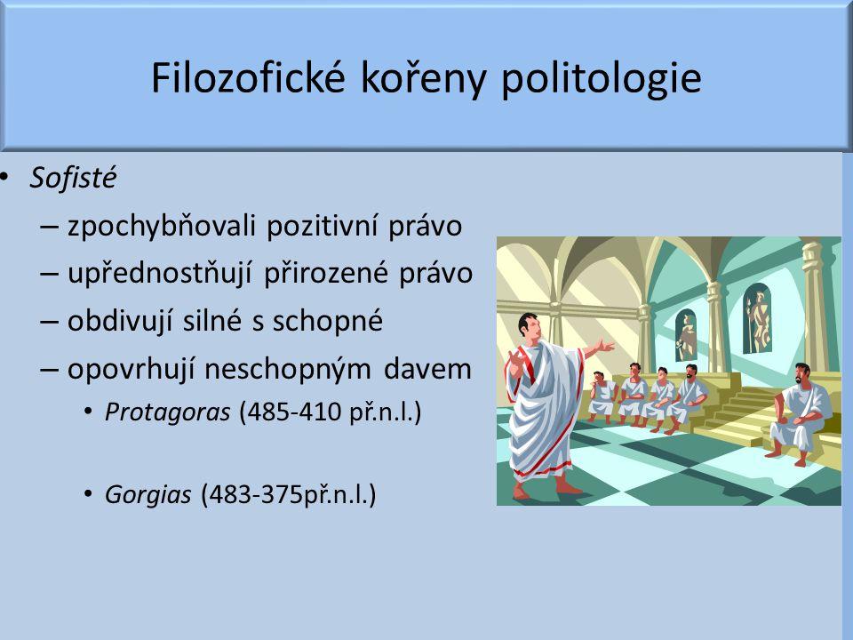 Filozofické kořeny politologie