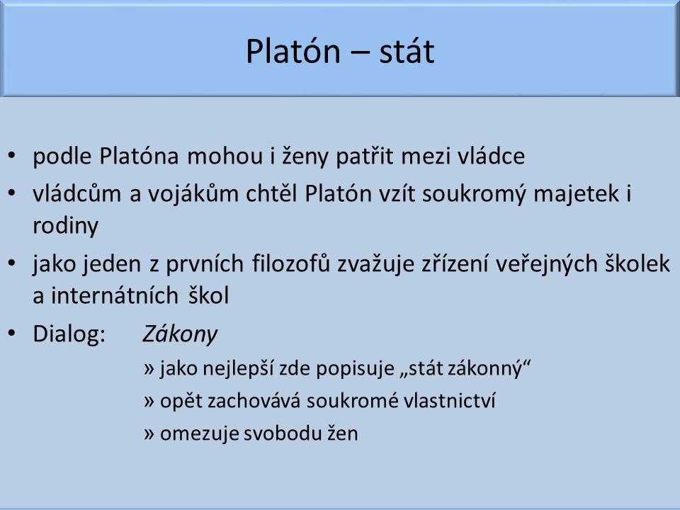 Platón – stát podle Platóna mohou i ženy patřit mezi vládce