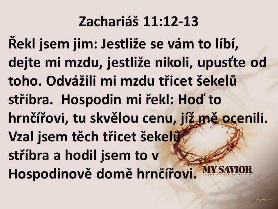 Zachariáš 11:12-13
