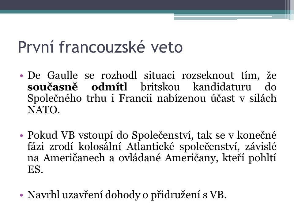 První francouzské veto