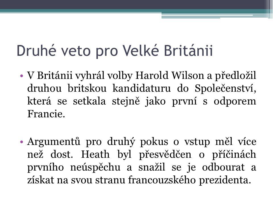 Druhé veto pro Velké Británii