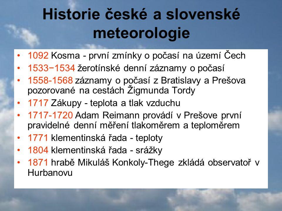 Historie české a slovenské meteorologie
