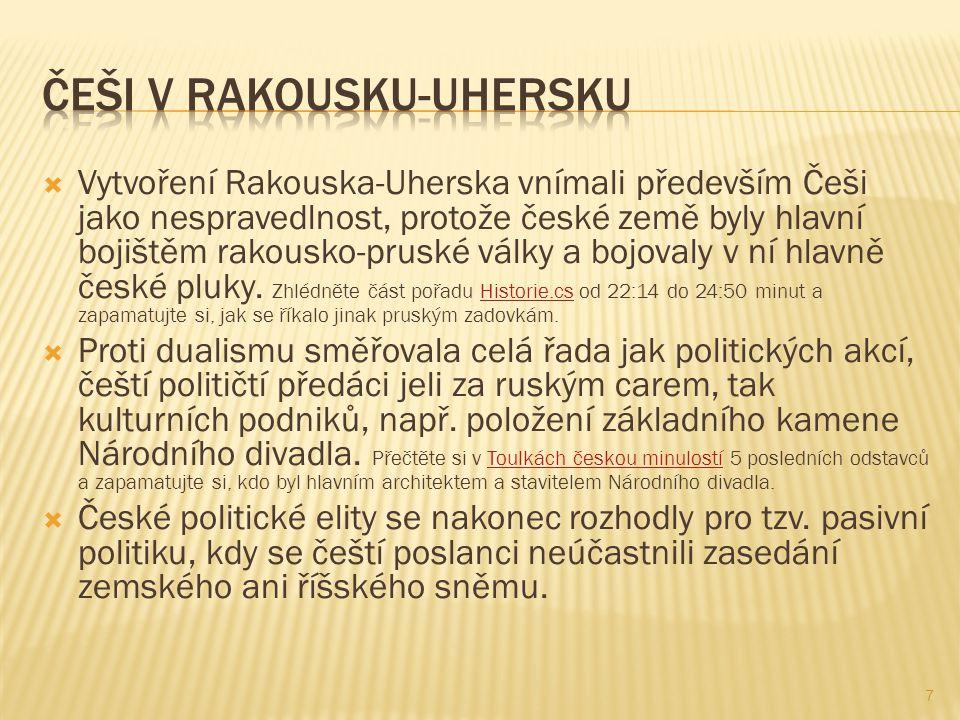 Češi v Rakousku-Uhersku