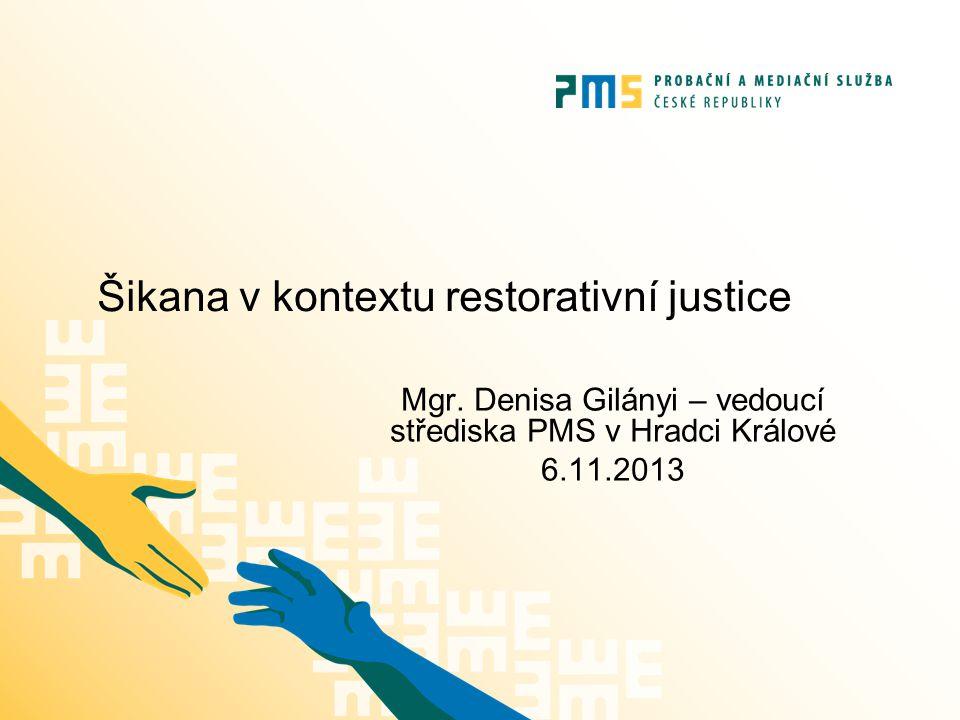 Šikana v kontextu restorativní justice