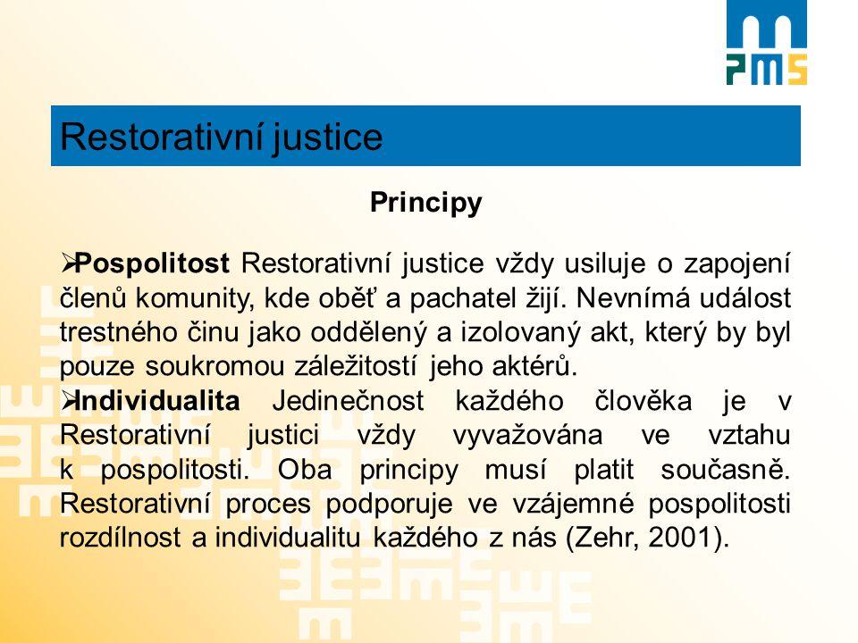 Restorativní justice Principy