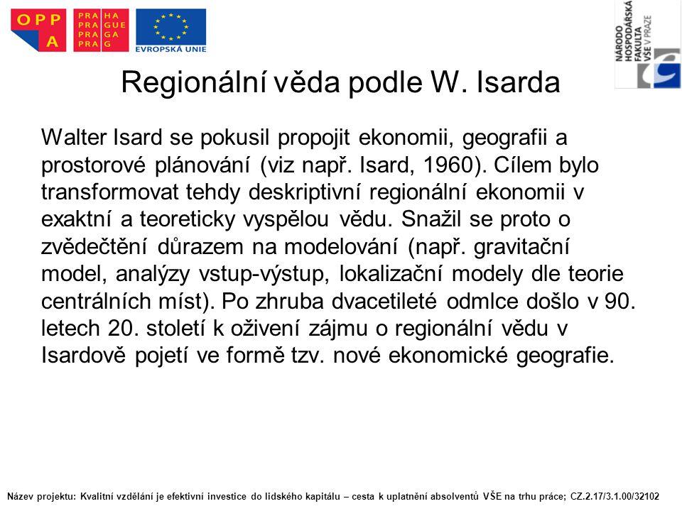 Regionální věda podle W. Isarda
