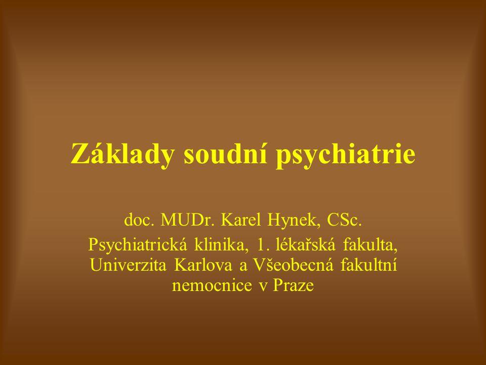 Základy soudní psychiatrie