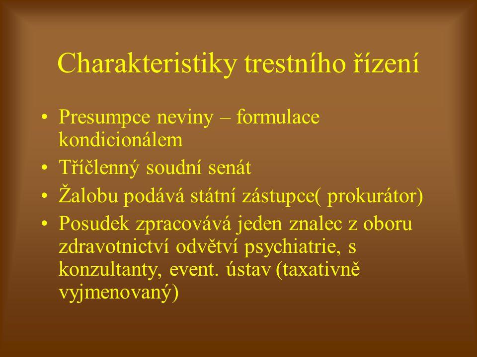 Charakteristiky trestního řízení