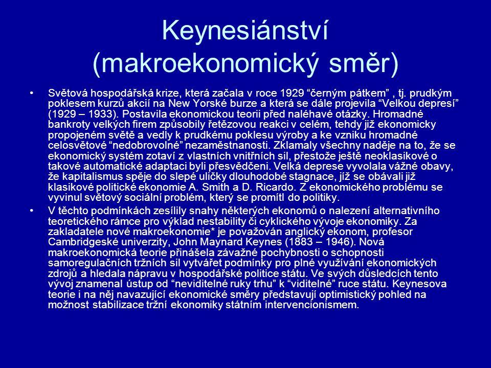 Keynesiánství (makroekonomický směr)