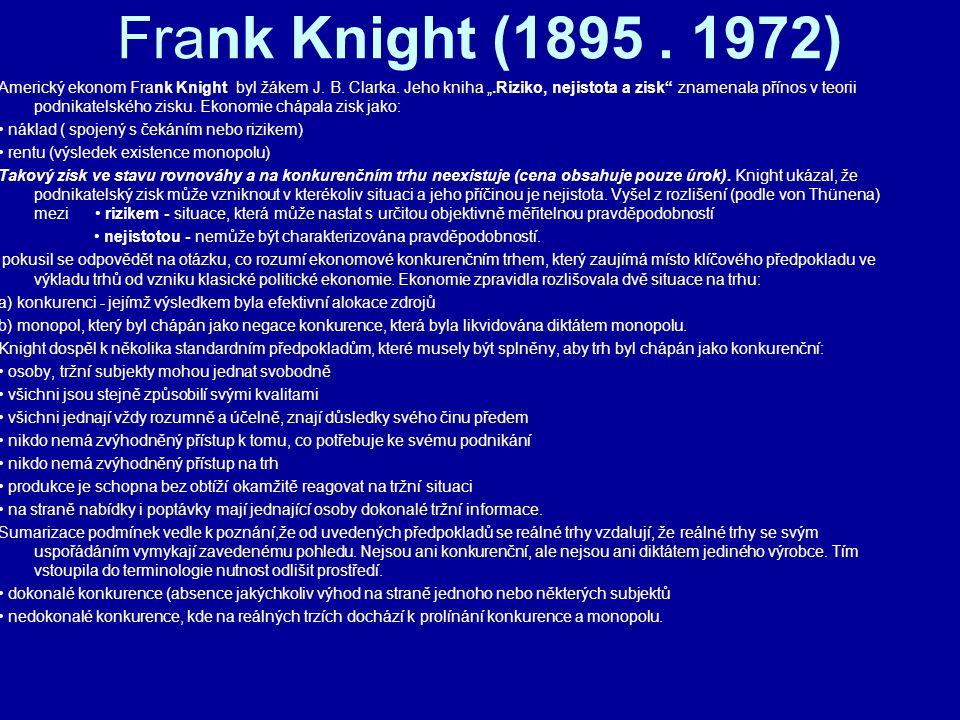 Frank Knight (1895 . 1972)