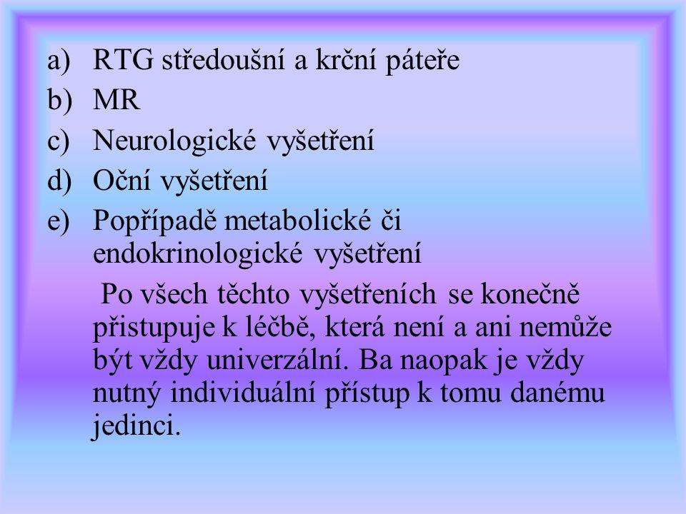 RTG středoušní a krční páteře