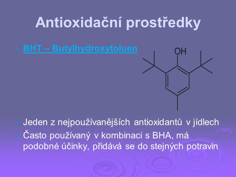 Antioxidační prostředky