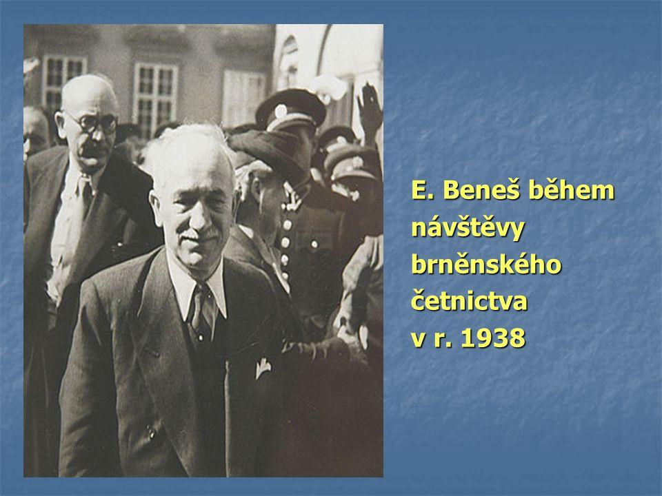 E. Beneš během návštěvy brněnského četnictva v r. 1938