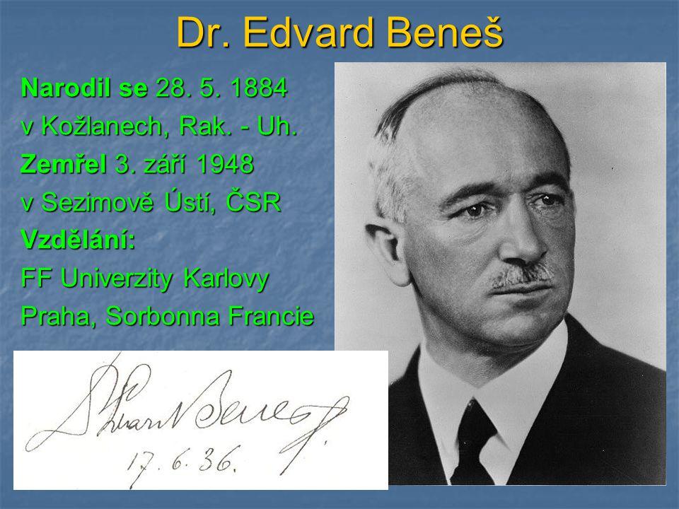 Dr. Edvard Beneš