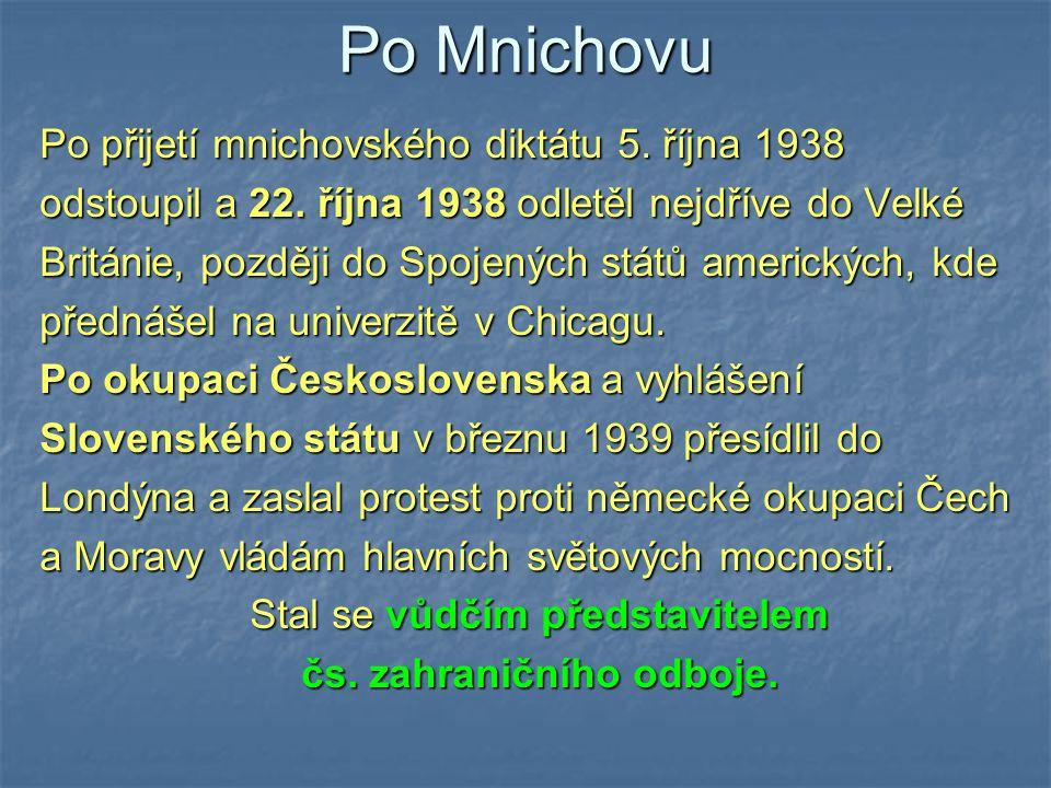 čs. zahraničního odboje.