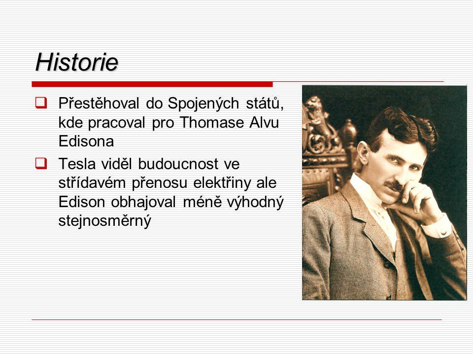 Historie Přestěhoval do Spojených států, kde pracoval pro Thomase Alvu Edisona.