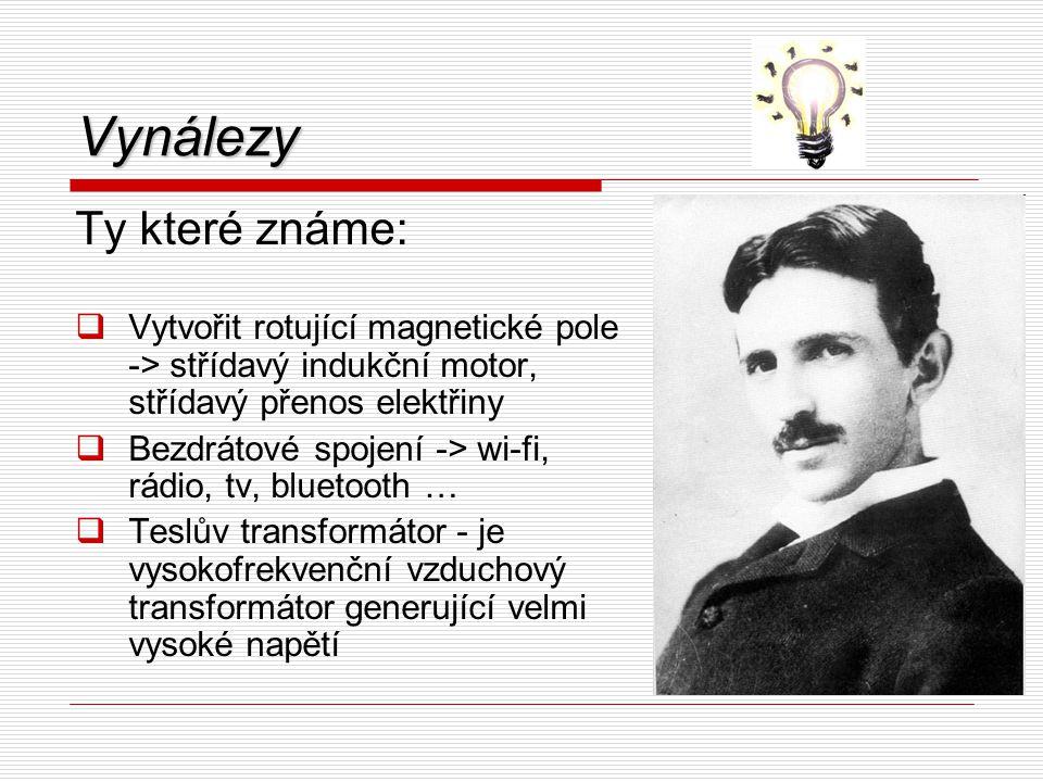 Vynálezy Ty které známe: