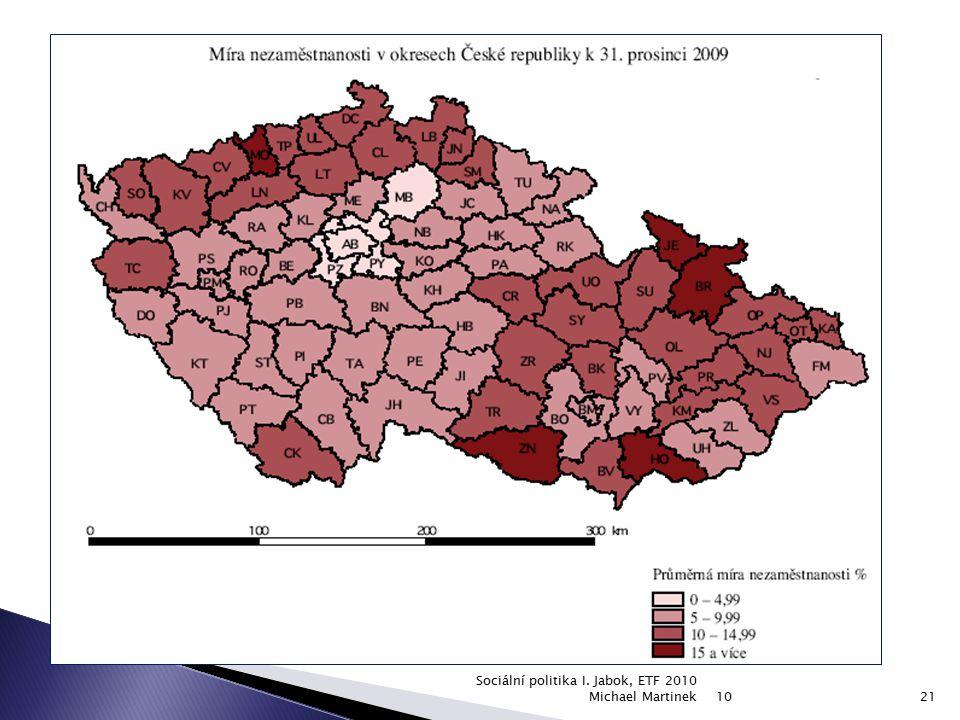 Sociální politika I. Jabok, ETF 2010 Michael Martinek