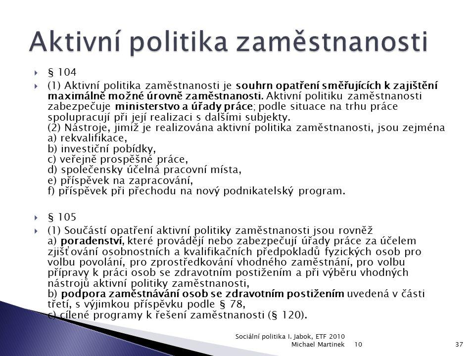 Aktivní politika zaměstnanosti