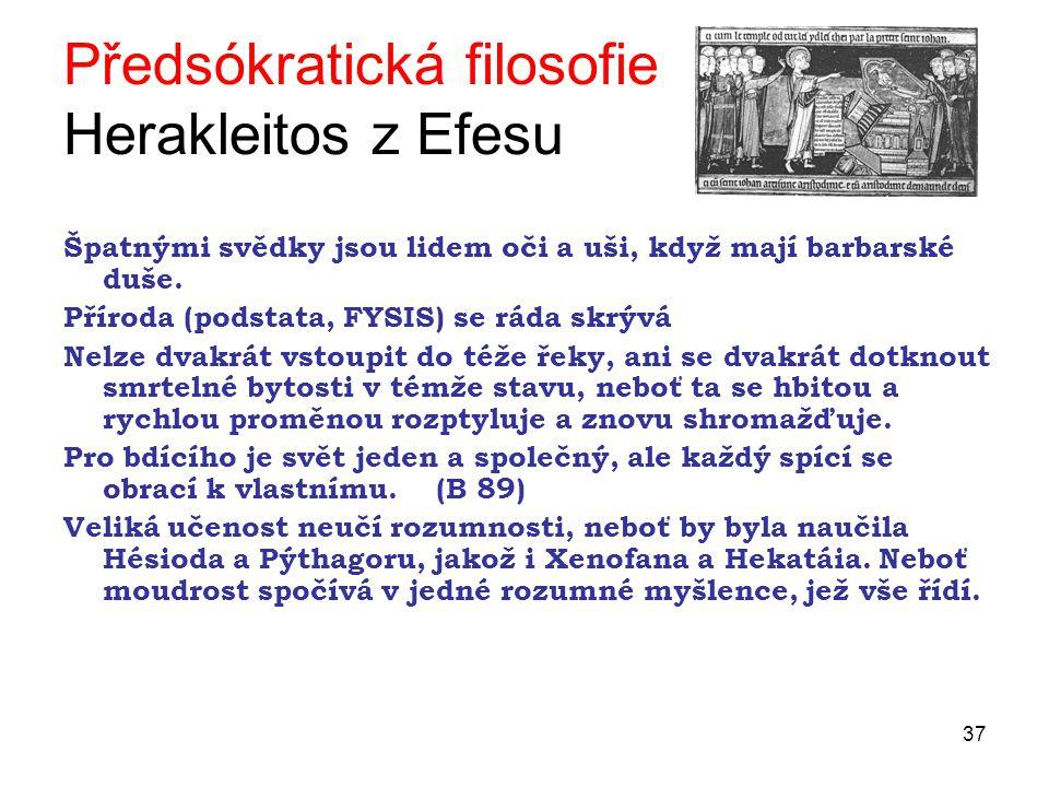 Předsókratická filosofie Herakleitos z Efesu