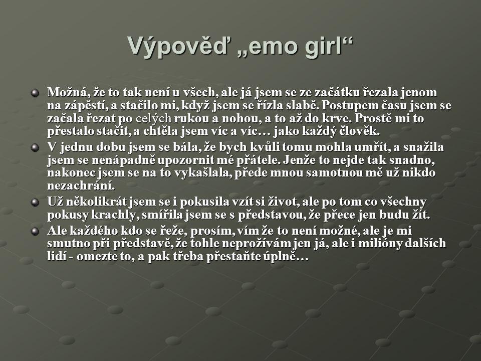 """Výpověď """"emo girl"""