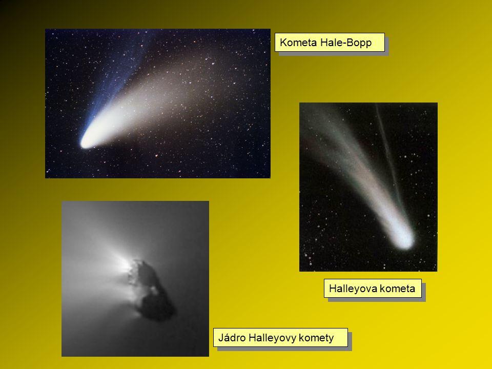 Kometa Hale-Bopp Halleyova kometa Jádro Halleyovy komety