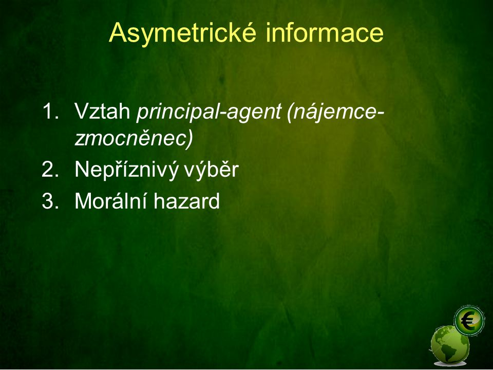Asymetrické informace