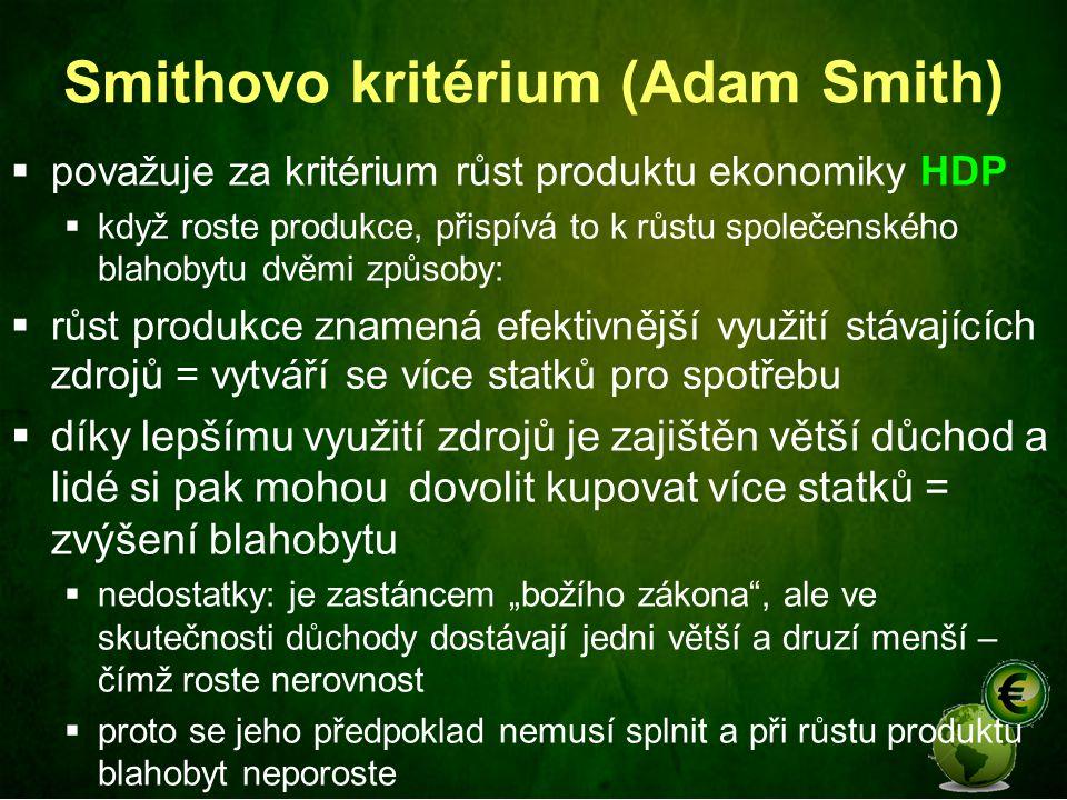 Smithovo kritérium (Adam Smith)