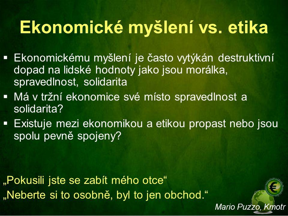 Ekonomické myšlení vs. etika