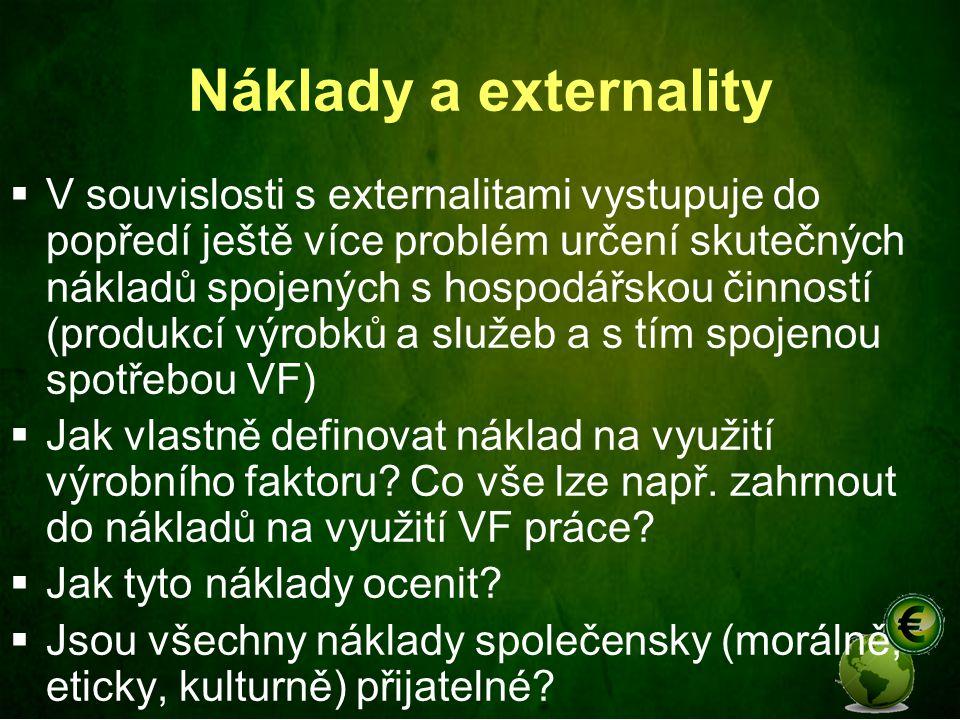 Náklady a externality