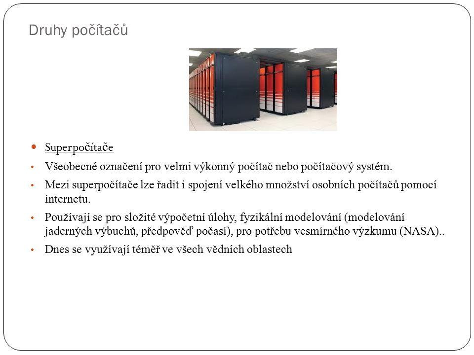 Druhy počítačů Superpočítače