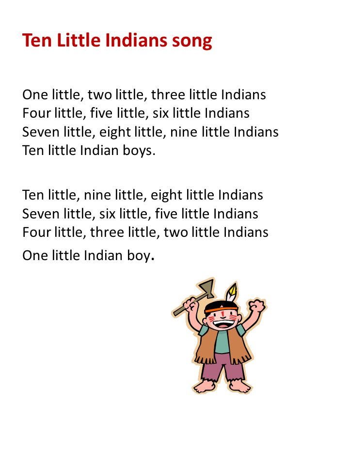 Ten Little Indians song